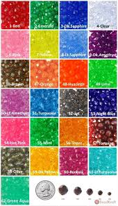 Bead Color Chart 4mm Faceted Beads Transparent Choose Color Approx 800 Pieces