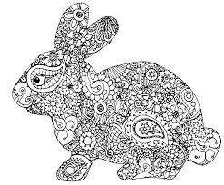 Small Picture Adult Coloring Page Easter Rabbit Of Easter 5 Easter Coloring
