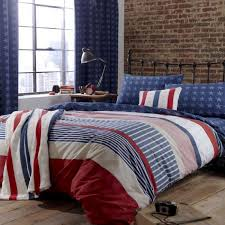 catherine lansfield red white blue stars and stripes duvet cover set