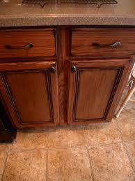 Staining Oak Cabinets Espresso How To Paint And Antique Kitchen Cabinets My Way See Cate