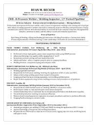 Welding Resume Examples Interesting Rig Welder Resume Ryan Becker Welding 48 Professional Templates To
