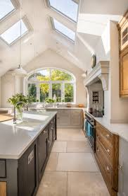 Garden To Kitchen Stunning Kitchen Extension Pitched Roof Vaulted Ceiling