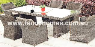 outdoor table and chairs sydney. oxford- outdoor wicker dining table with 6 seaters and chairs sydney r