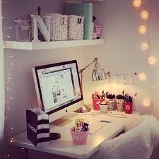 desk inspiration tumblr. Fine Inspiration Apple Cute Desk Girly Imac Lights Love Room On Desk Inspiration Tumblr D