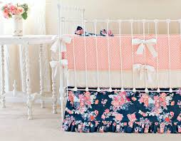 navy and c fl crib set