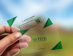 Translucent Plastic Business Cards Translucent Plastic Business Card Free Psd Mockup