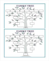 Family Tree Example Template 50 Family Tree Templates Free Sample Example Format