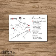 custom wedding map made to match printable file enclosure Custom Wedding Invitation Inserts custom wedding map made to match printable file enclosure card, invitation insert Insert Wedding Invitation Etiquette