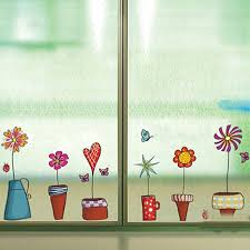 Small Picture Aliexpresscom Buy Cute Flower Wall Sticker Kitchen Window