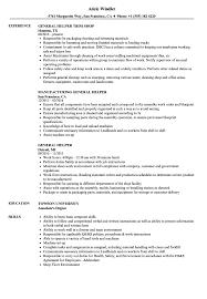 General Helper Resume Samples Velvet Jobs