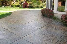 stamped concrete patios walkways