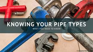 Types Of Pipes Knowing Your Pipe Types James Caccia Plumbing