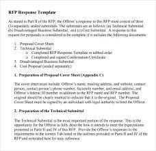 Response To Rfp Sample 16 Rfp Proposal Template Doggiedesigneu Rfp Response