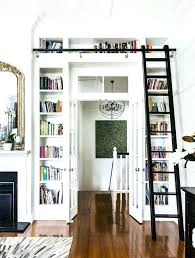 library ladder home beautiful rolling from astonishing bookcase with and diy kit
