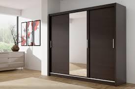 Mirrored Wardrobe With Sliding Doors Cm Wide MAIV Inter - Bedroom wardrobe sliding doors