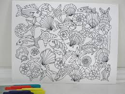 Small Picture Seashore Under the Sea Coloring Page Downloadable PDF Mary