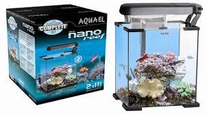 Nano reef 20 l nero aquael mini acquario completo marino di