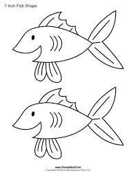 Fish Outline printable fish templates for kids preschool fish shapes on 3 7 8 inch printable template