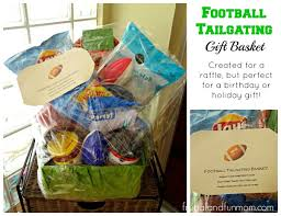Football Themed Gift Basket Idea Perfect For Tailgating