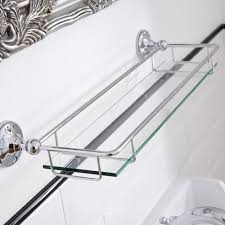 ambience glass gallery bathroom shelf with chrome finish image 3