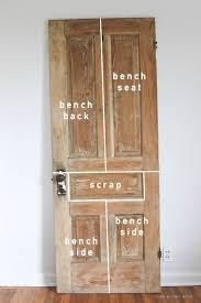 old door new bench diy home decor ideas rustic bench wood doors and bench