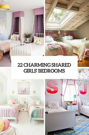 Shared Kids Bedroom 22 Charming Shared Girl Bedrooms To Get Inspired Digsdigs