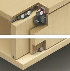 Hafele 402.30.014 Fitting Set for 2 Doors with Stopper ...
