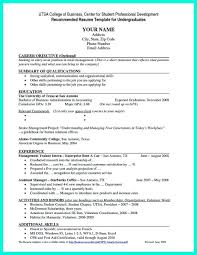 College Student Sample Resume New Resume Samples For College