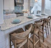 Beach bar ideas beach cottage Rustic Breakfast Bar And Rustic Stools Kitchens Beach Cottage Style Pertaining To House Decor Architecture Getss Modern Interior Beach House Kitchen Design Coastal Decor How To Intended For Bar