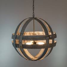 atom cyclopean wine barrel double ring chandelier 100 recycled