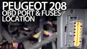 peugeot 208 fuses and obd2 diagnostic port location peugeot 208 fuses and obd2 diagnostic port location