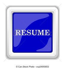 Resume Icon Internet Button On White Background