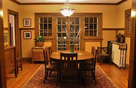 craftsman lighting dining room. Craftsman Dining Room With Bowl Pendant Light, Crown Molding, Chair Rail, Hardwood Floors Lighting