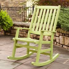image of green patio rocking chair
