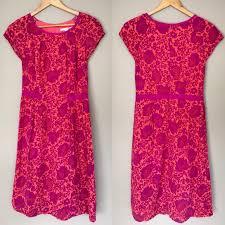 Boden Pink Orange Tunic Dress Size Us6