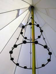 tea light chandelier double tier multi coloured glass by bell tent boutique