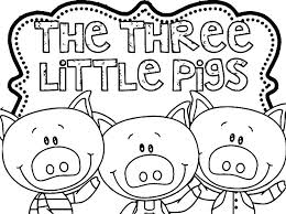 Peppa Pig Coloring Games Pig Color Page Three Little Pigs Coloring