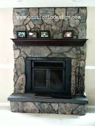 once upon a time this fireplace was lava rock red with a matching red aggregate hearth and honey oak mantle now it s been transformed with custom