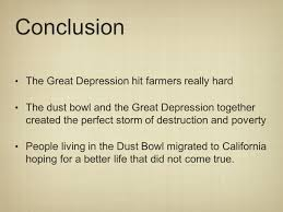 the great depression dust bowl objective by the end of the 22 conclusion the great depression