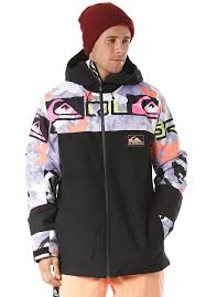 Quiksilver Sycamore Anniversary Snowboard Jacket For Men Black
