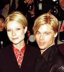 gwyneth and brad with the same hairstyle 1997