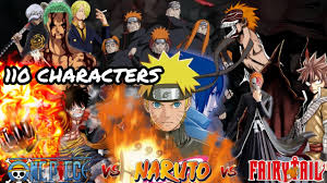 Onepiece vs Naruto vs Fairytail vs Bleach [ GAMEPLAY ] MUGEN - YouTube
