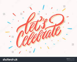 Celebrate Banner Lets Celebrate Banner Vector Lettering Sponsored