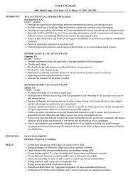 Tax Accountant Senior Resume Samples Velvet Jobs
