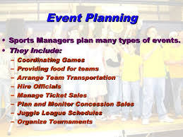 Gantt Chart For Sports Event Unit 3 Sport Facility Management And Event Planning
