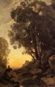 artist camille corot french realist 1796 1875 title the italian goatherd completion