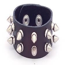 black spike bracelet