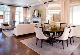 Living Room And Dining Room Furniture Dining Room Ball Glass Pendant Lamp With Round Glass Dining Table