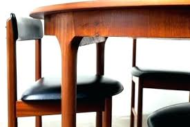 teak dining table and chairs teak furniture oil mid century round or oval danish teak dining