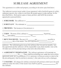 Sublease Form Lease Agreement Template Florida Rental Condo Residential